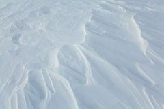 White pattern of snow in field Royalty Free Stock Photography