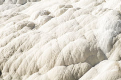 White patterns. Abstract patterns in the terraces of Mammoth Hot Springs in Yellowstone National Park Royalty Free Stock Image