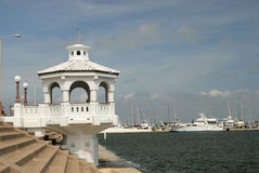 White pavilion in Corpus Christi, USA Royalty Free Stock Image