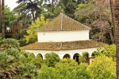 White Pavilion Garden Alcazar Royal Palace Seville Stock Photography