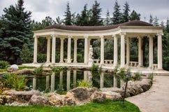 White pavilion near lake Royalty Free Stock Photography