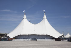 White pavillion tent structure Royalty Free Stock Images