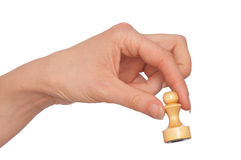 White pawn Stock Image