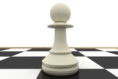 White pawn on chess board Royalty Free Stock Photo