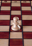 White pawn chess piece Stock Photography