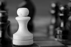 White pawn Stock Image