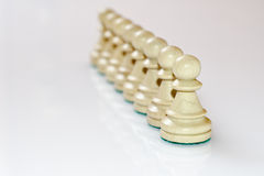 White pawns Stock Photo