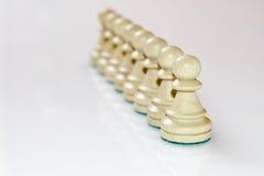 White pawns Stock Photo