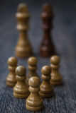 White Pawns Against Kings Stock Photography