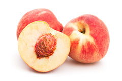 White peach. On white background royalty free stock photo