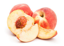 White peach. On white background royalty free stock photography