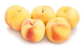 White peach. Path on white royalty free stock photo