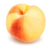 White peach. Path on white royalty free stock image