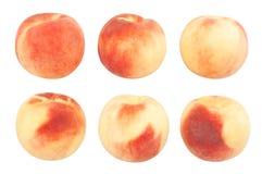 White peach. Path isolated on white stock photo