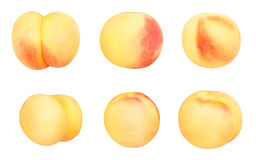 White peach. Path isolated on white royalty free stock image