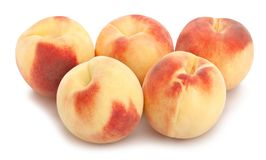 White peach. Path isolated on white stock images