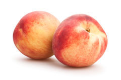 White peaches Stock Images