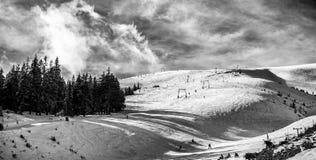 White peaks mountains of Dragobrat.The west Ukraine. Stock Image