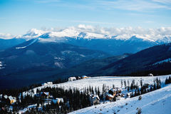 White peaks mountains of Dragobrat. The west Ukraine Royalty Free Stock Photos