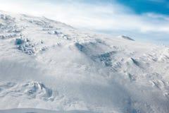 White peaks mountains of Dragobrat.The west Ukraine. Snowy mountainside Stock Photo