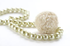 White pearl and candy Royalty Free Stock Photography