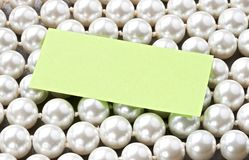 White pearl and card Stock Photo