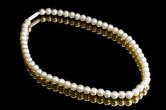 White Pearl Necklace Stock Image