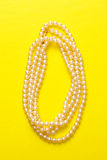 White pearl necklace Stock Photography
