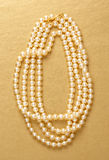 White pearl necklace Royalty Free Stock Photos