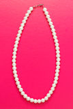 White pearl necklace of one string Stock Photography