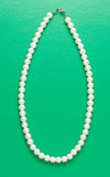 White pearl necklace of one string Royalty Free Stock Images