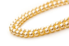 White pearl necklace Stock Photos