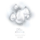 White Pearl Oil Drops Stock Photography