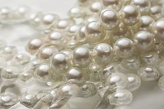 White pearl in water Stock Photography