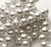White pearl in water Royalty Free Stock Photography