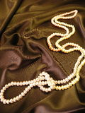 White pearls stock image