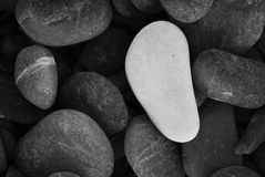 White Pebble Stone Royalty Free Stock Photo
