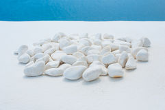 White pebble stone Royalty Free Stock Image