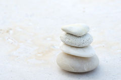 White pebble zen stone Royalty Free Stock Photography