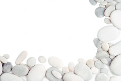 White pebble stone frame border Royalty Free Stock Photos