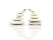 White pebble stone. Harmony concept Stock Images