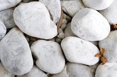 White pebble stones Royalty Free Stock Photos