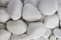 White pebble stones zen. White pebble stones concept for horticulture and zen Royalty Free Stock Image