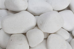 White pebble stones zen. White pebble stones concept for horticulture and zen Royalty Free Stock Images