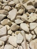 White pebbles stock photo
