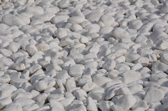 White Pebbles. Closeup image of white pebbles on the beach Stock Image