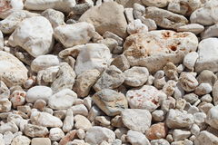 White pebbles background Stock Image