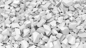White pebbles pile Royalty Free Stock Images