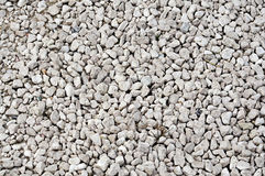 White pebbles texture Royalty Free Stock Photography