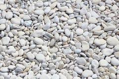 White pebbles Stock Photos